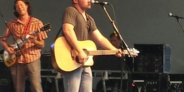 Mark Leach rocking downtown Akron, Ohio at the Lock 3 stage! #markleach #lock3 #akron #KickinCountry