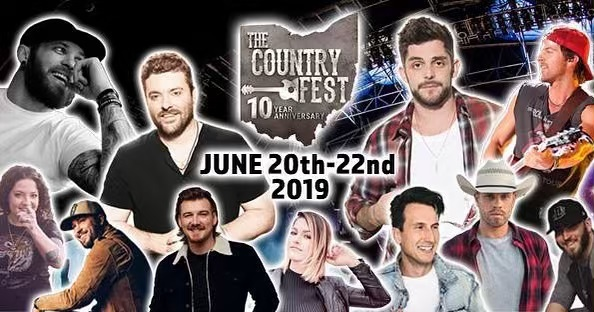 Ohio!  Who's ready for The Country Fest 2019! Countdown is on, 9 Days!  North Lawrence, Ohio.  #thecountryfest #countrymusic